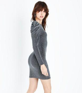 parisian---robe-moulante-argentée-à-paillettes-et-épaules-froncées (1)