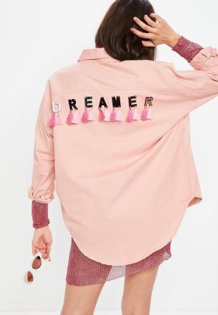 chemise-en-jean-rose-dreamer--pompons