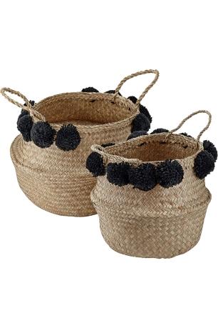 moyen-panier-thalandais-naturel-et-pompons-noirs